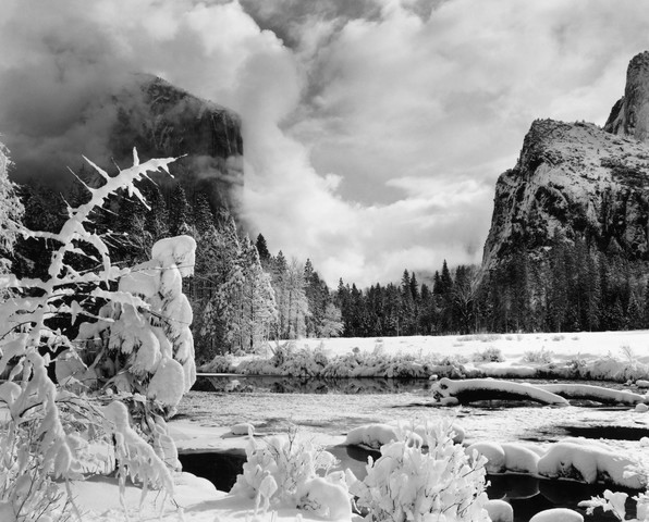 Gates of the Valley, Winter by Ansel Adams