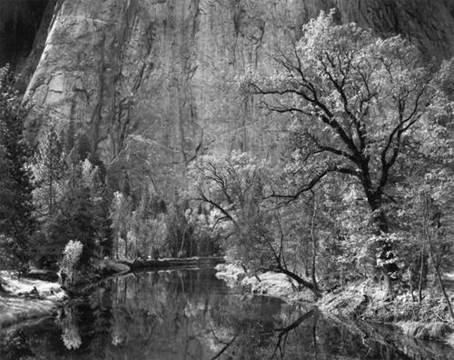 merced river cliffs autumn